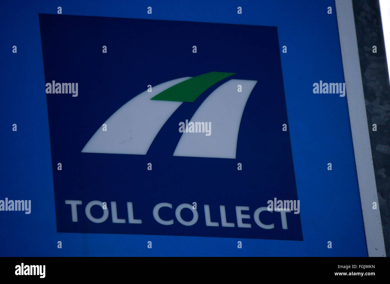 Markenname: 'Toll Collect', Berlin. - Stock Image