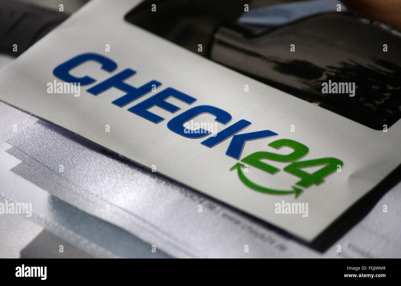 Markenname: 'Check 24', Berlin. - Stock Image