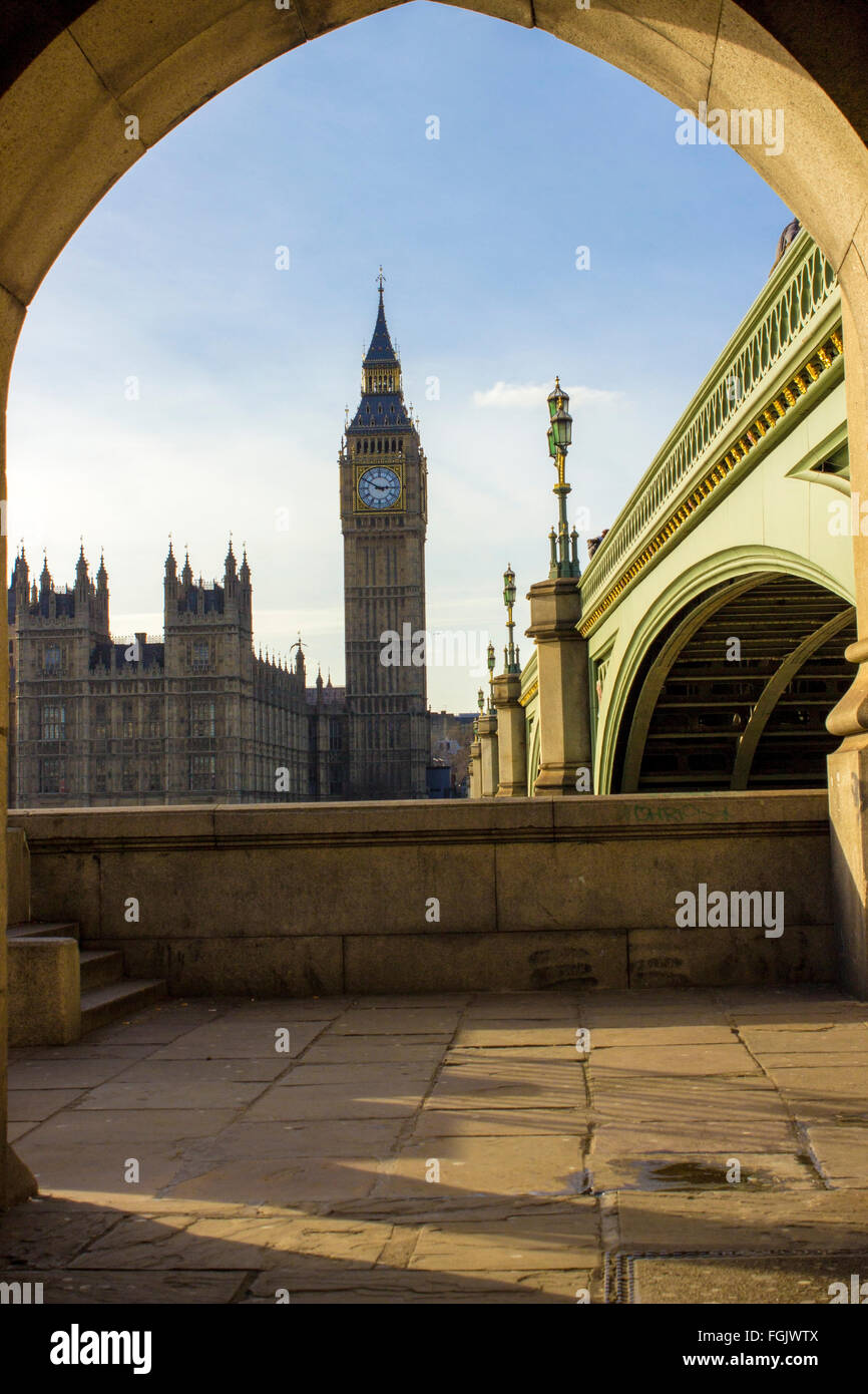 Big Ben and Parliament in London - Stock Image