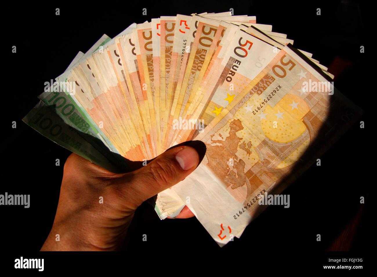 Symbolbild: geld: Euros. - Stock Image