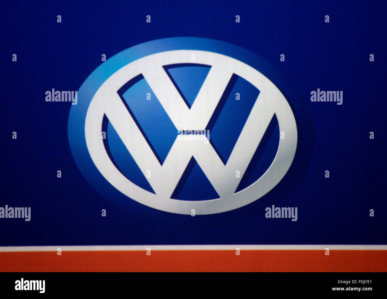Markenname: 'VW Volkswagen', Berlin. - Stock Image