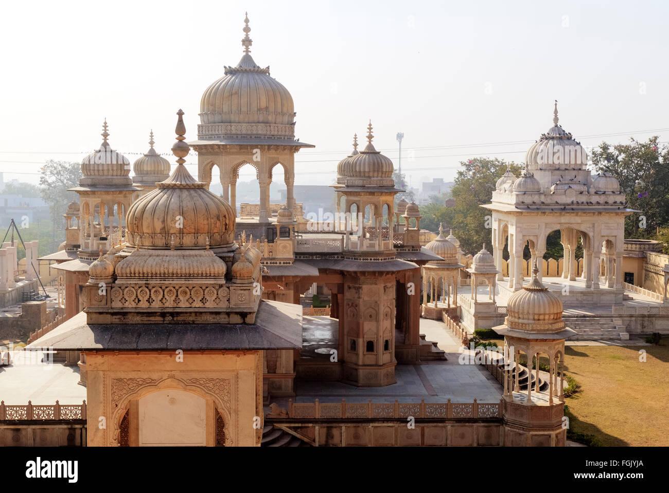 Gatore Ki Chhatriyan, Jaipur, Rajasthan, India Stock Photo