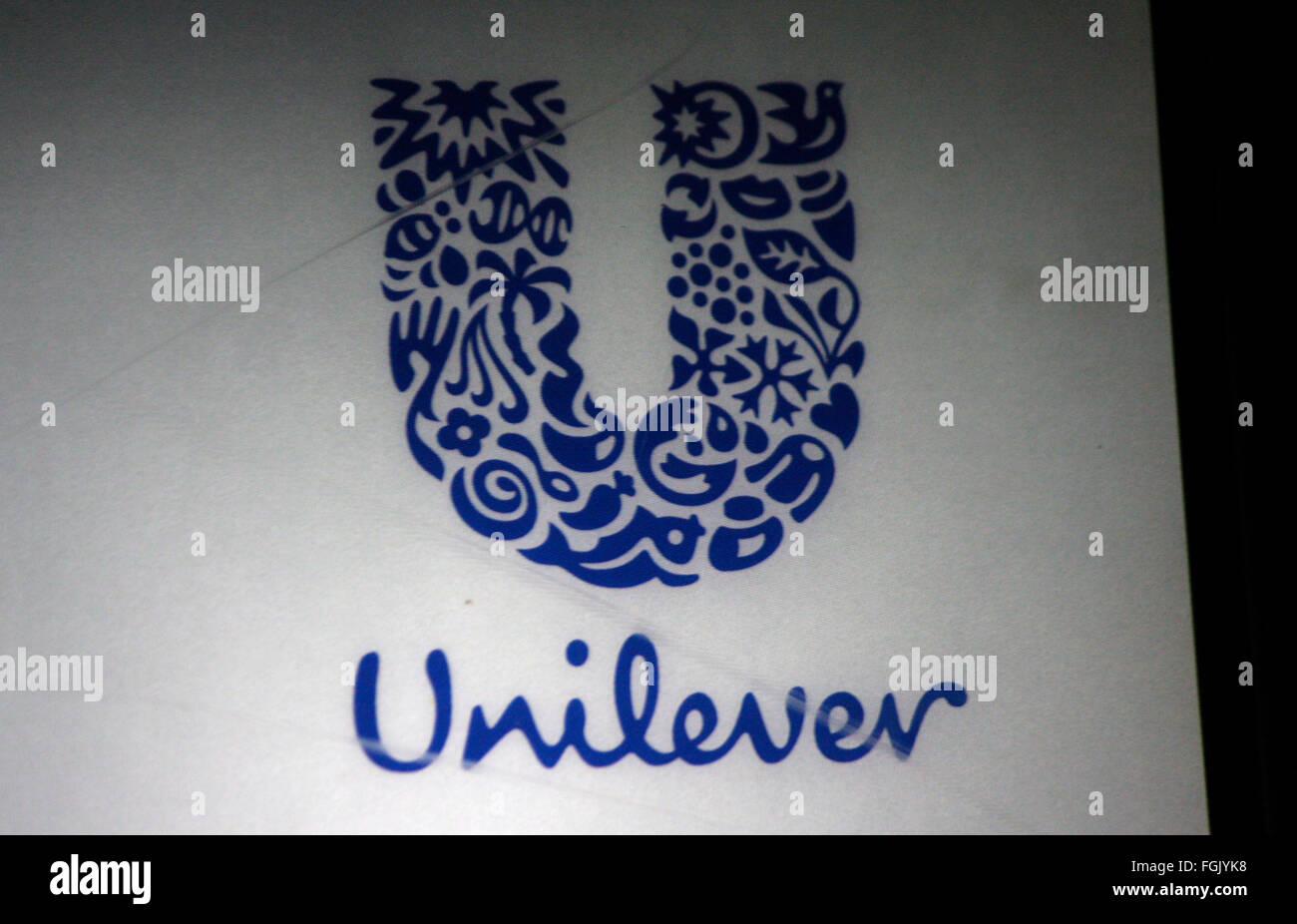 "Markenname: ""Unilever"", Berlin. Stock Photo"
