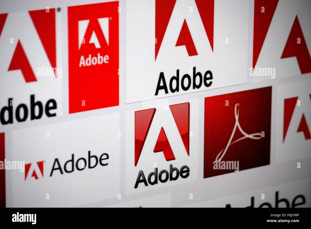 Markenname: 'Adobe', Berlin. - Stock Image