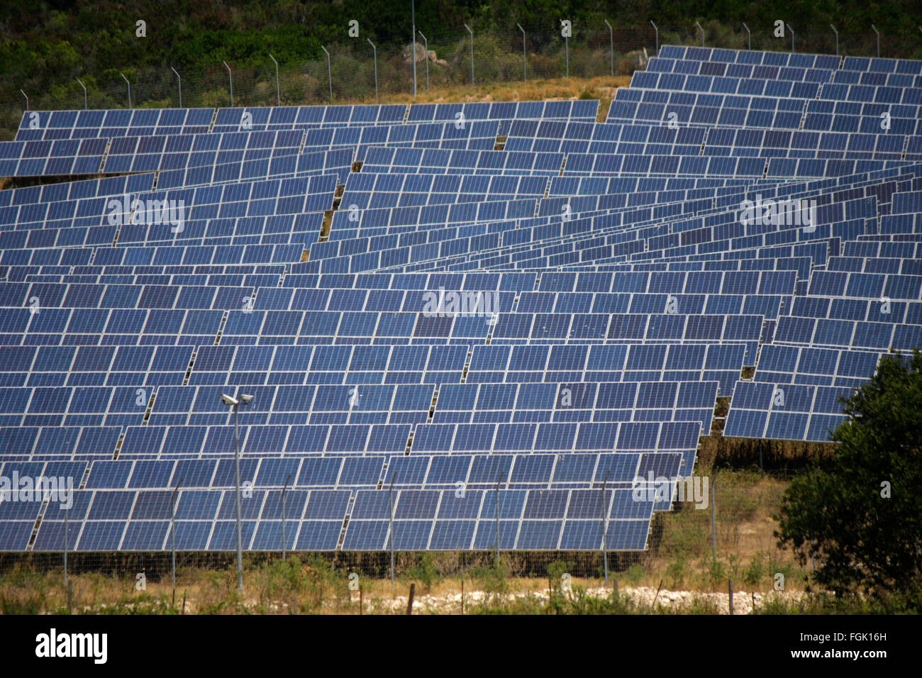 Solarenergie, Korsika, Frankreich. - Stock Image