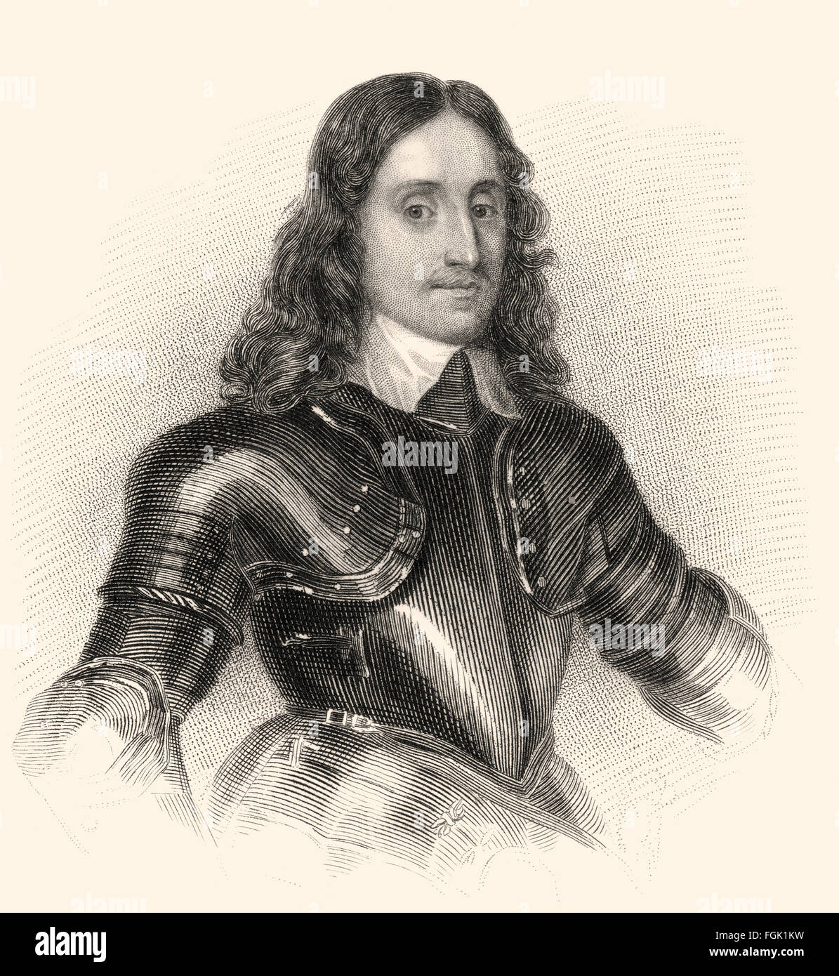 William Kerr, first Earl of Lothian of a new creation, 1605-1675, a Scottish nobleman - Stock Image