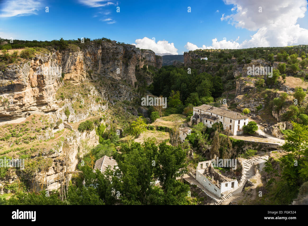 Canyon at Alhama de Granada, Andalusia, Spain Stock Photo