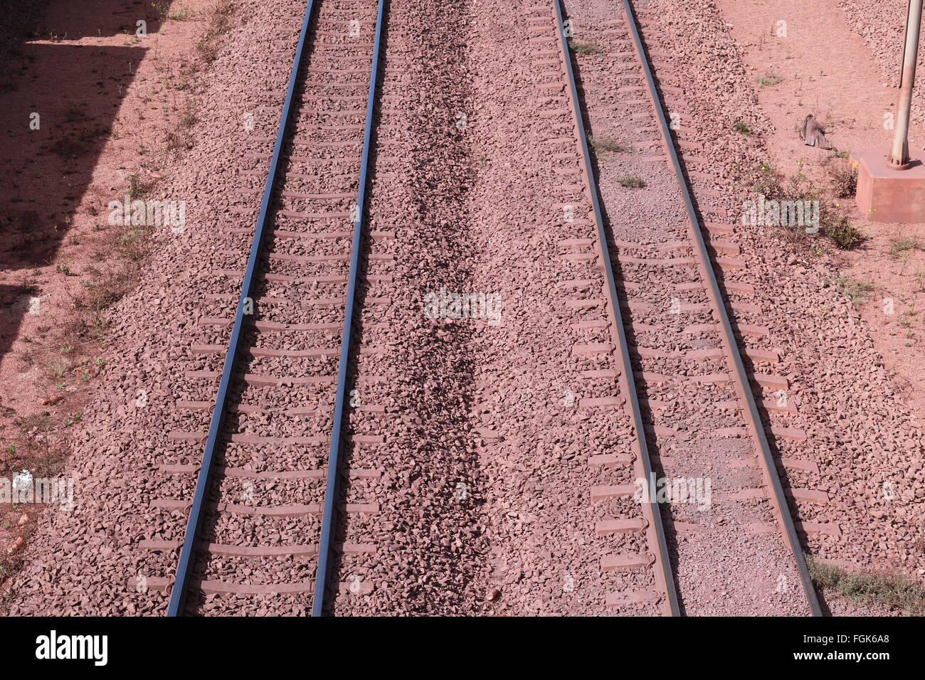 Railway lines, Saldanha Bay, Western Cape, South Africa - Stock Image