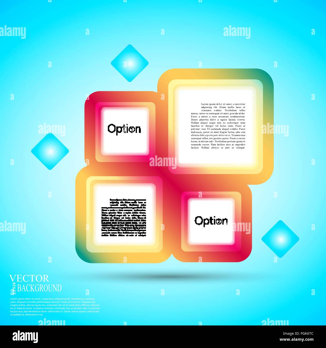 Abstract background of color boxes. Template for a text eps10 vector illustration - Stock Image