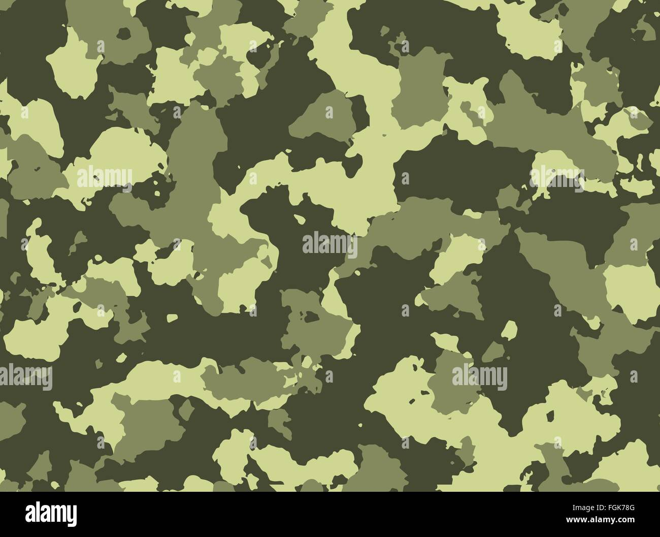 Seamless woodland camo pattern vector eps 10 vector illustration - Stock Image
