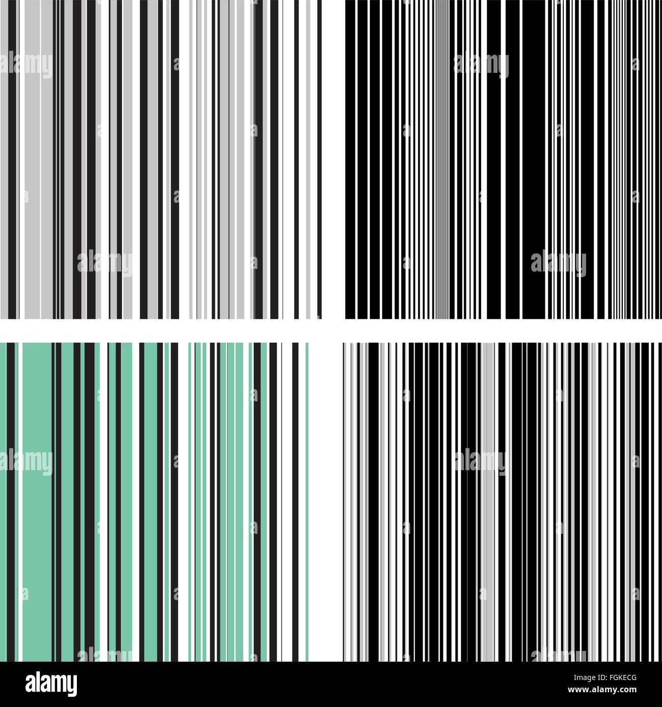 Comic book speed vertical lines background set. Good for banners, covers and stickers. Set of four images each of - Stock Image