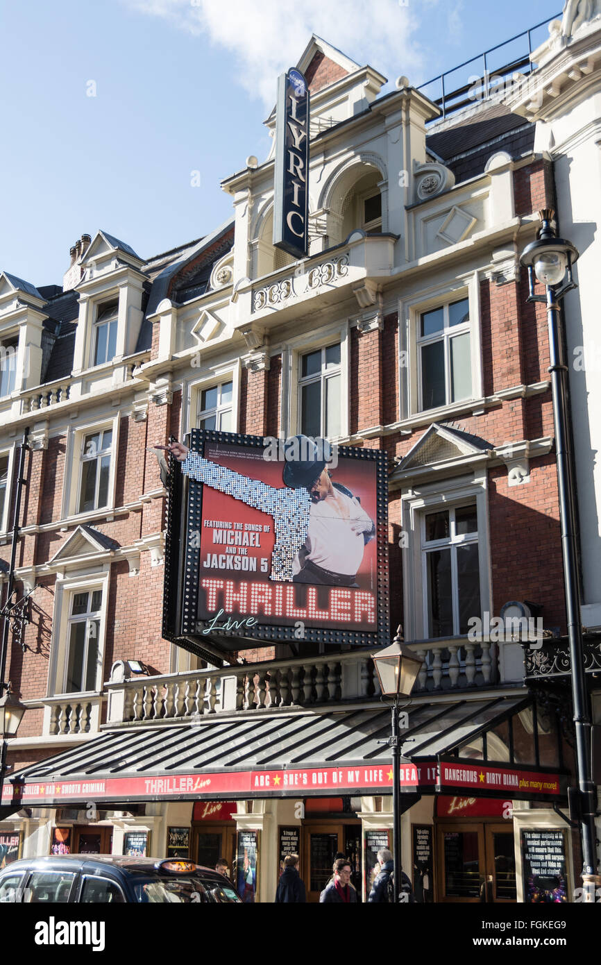 Thriller at the Lyric Theatre in Theatreland on London's Shaftesbury Avenue, SOHO, UK - Stock Image