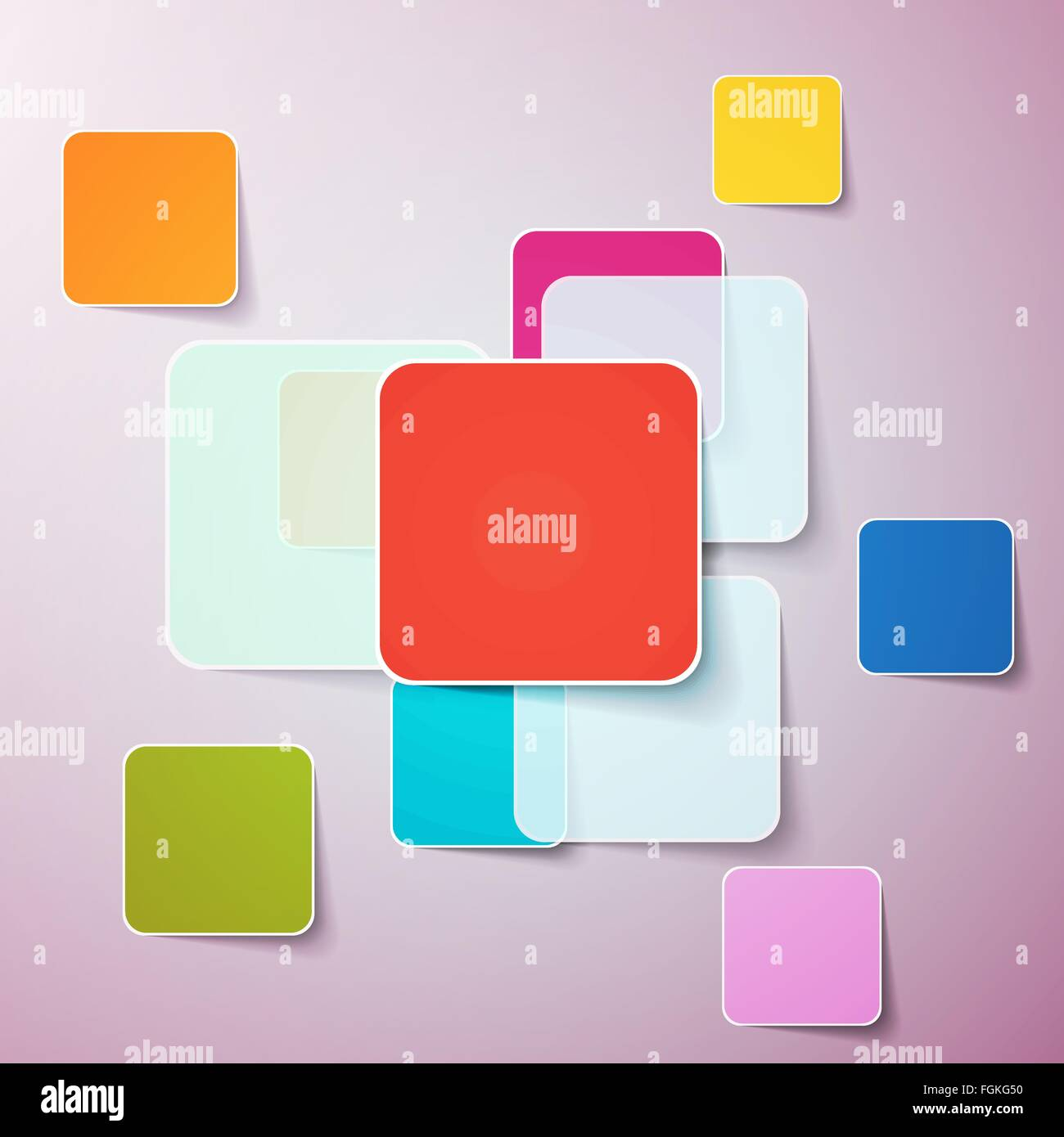 Abstract background of color boxes. Template for a text Vector illustration EPS10 - Stock Image