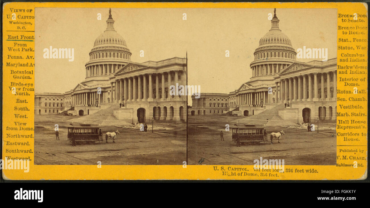 U.S. Capitol. East Front, by Chase, W. M. (William M.), 1818 - 9-1905 - Stock Image