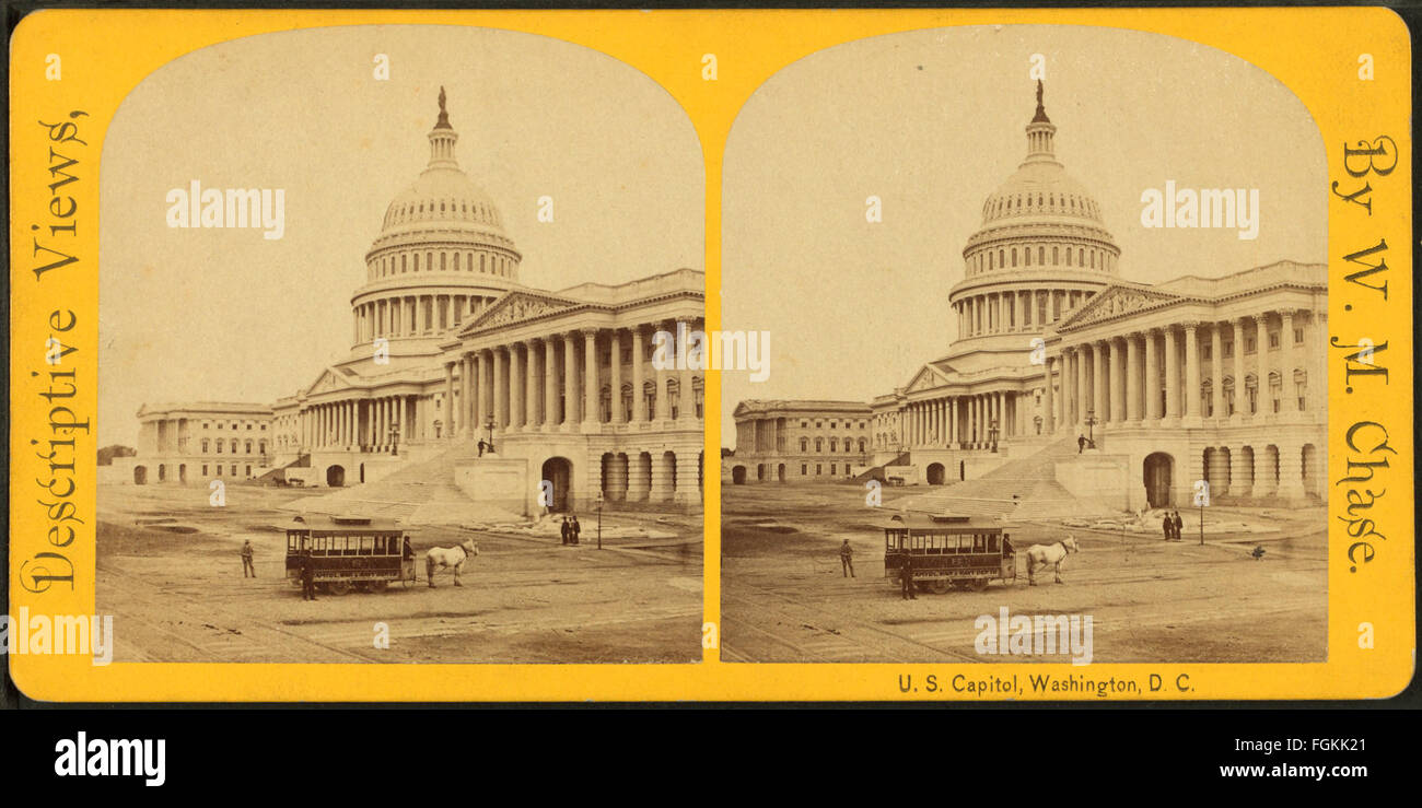U.S. Capitol. Washington, D.C, by Chase, W. M. (William M.), 1818 - 9-1905 - Stock Image