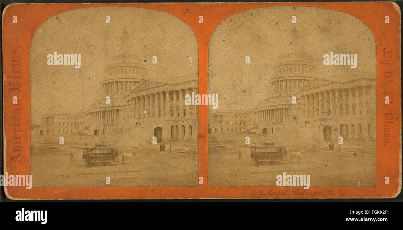 U.S. Capitol. Washington, D.C, by Chase, W. M. (William M.), 1818 - 9-1905 2 - Stock Image