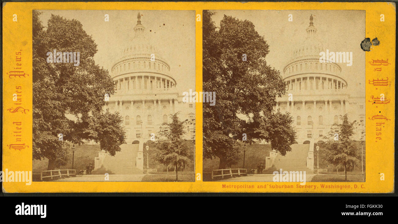 U.S. Capitol. West Front, by Chase, W. M. (William M.), 1818 - 9-1905 - Stock Image