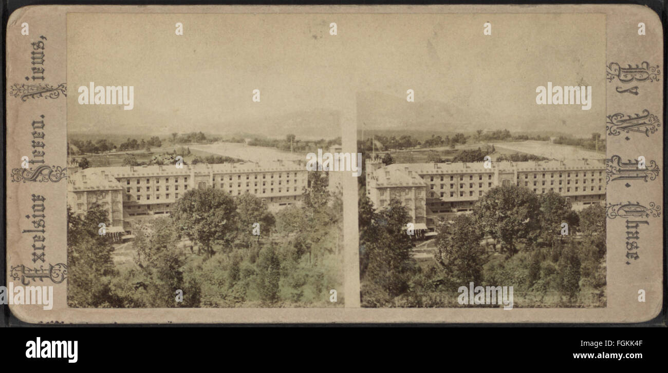 U. S. Military Academy West Point, by Chase, W. M. (William M.), ca. 1818-1901 - Stock Image