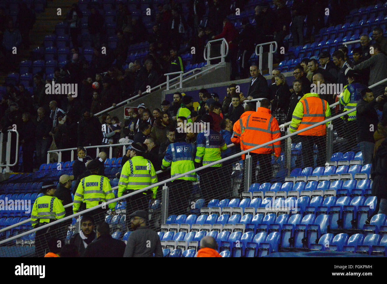Madejski Stadium, Reading, Berkshire, UK. 20th February 2016.  At the end of the FA Cup clash between West Bromwich - Stock Image