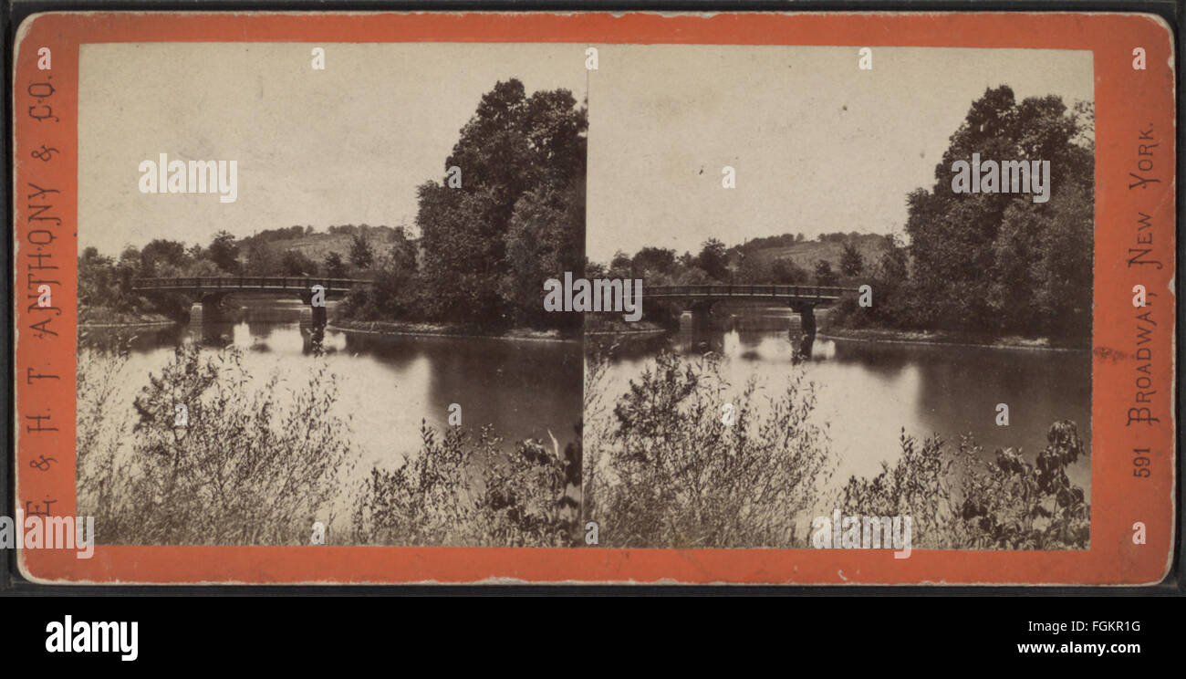 Lullwater Bridge, looking south, from Robert N. Dennis collection of stereoscopic views Stock Photo