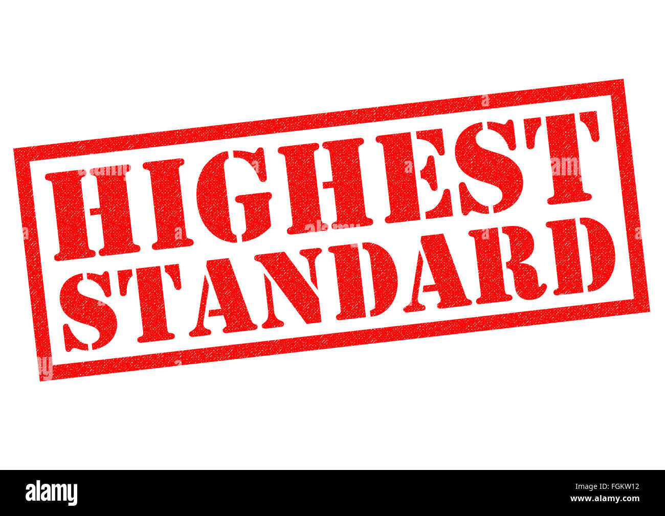 HIGHEST STANDARD red Rubber Stamp over a white background. Stock Photo
