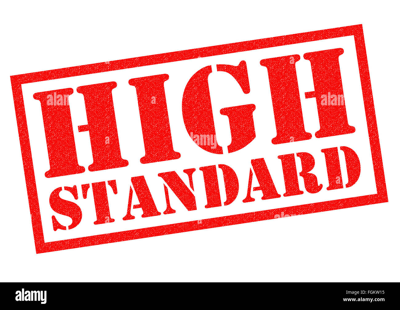 HIGH STANDARD red Rubber Stamp over a white background. Stock Photo