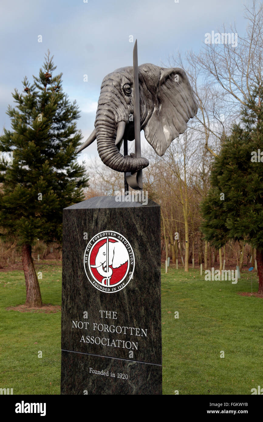 The  Not Forgotten Association Monument at the National Memorial Arboretum, Alrewas, UK. - Stock Image