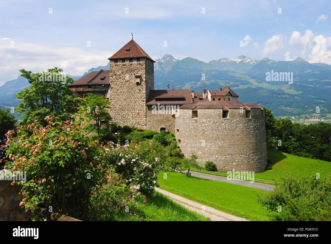 Vaduz castle. Stock Photo