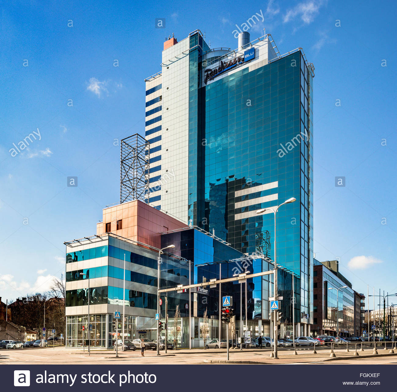 Radisson Blu hotel in Tallinn, Estonia, Künnapu&Padrik architects - Stock Image