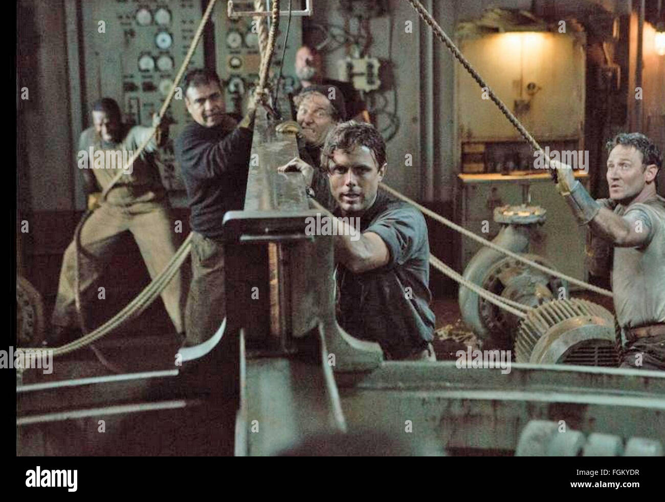 THE FINEST HOURS 2016 Disney Enterprises film with Casey Affleck - Stock Image