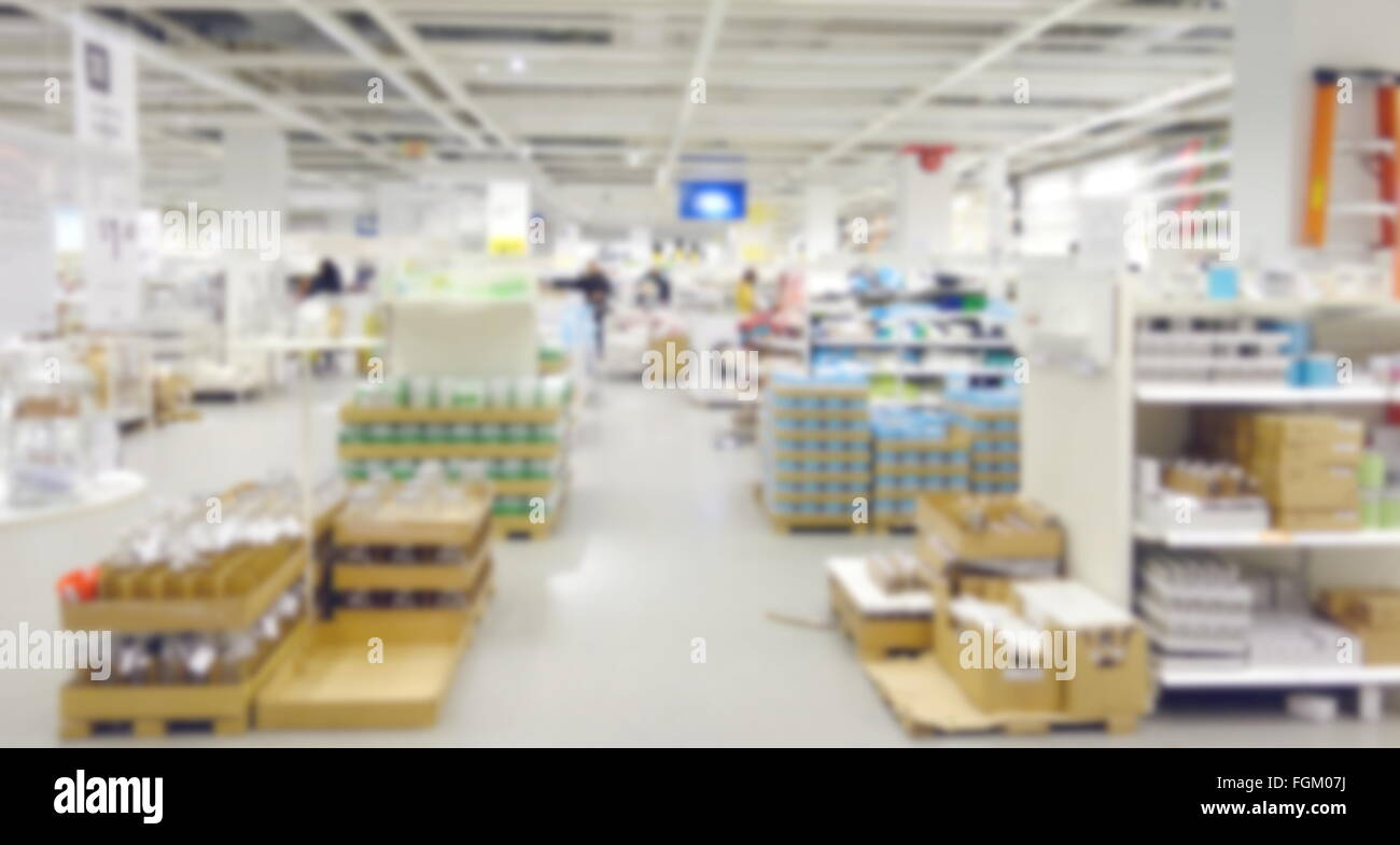 Blurred Home Decor Department Store Stock Photo 96325590 Alamy