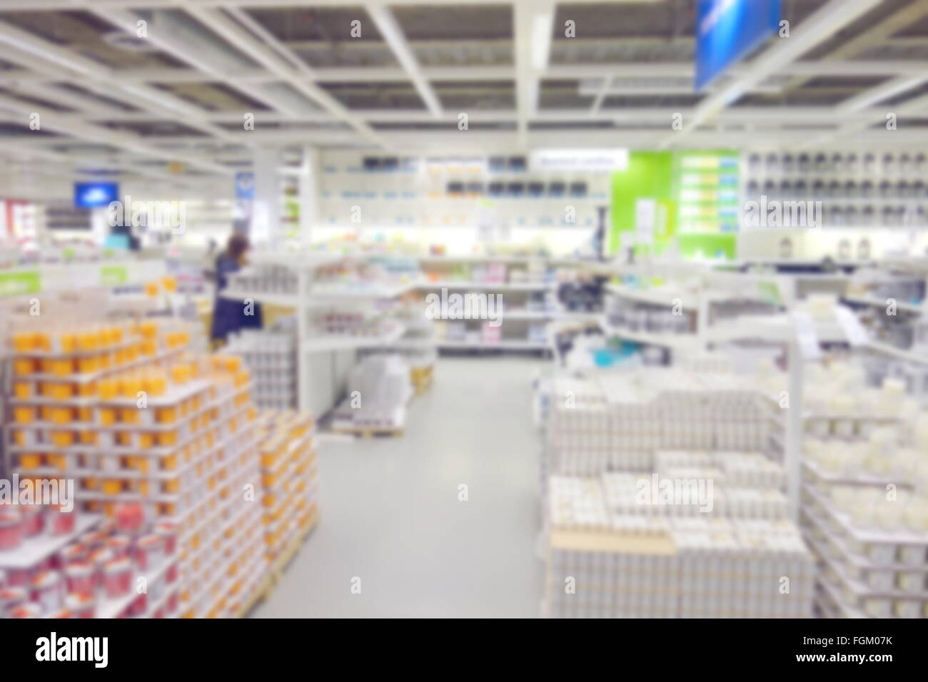 Blurred Home Decor Department Store Stock Photo 96325591 Alamy
