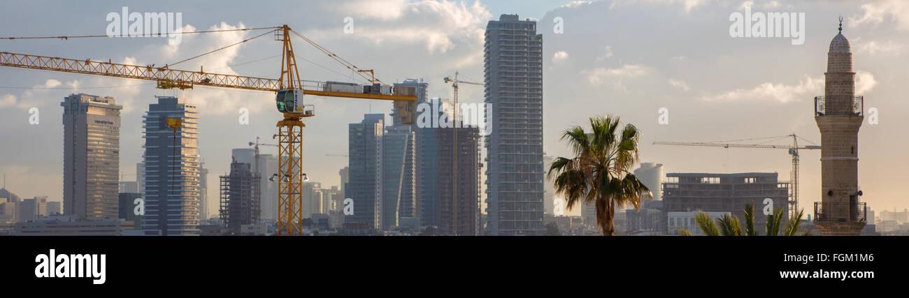 TEL AVIV, ISRAEL - MARCH 2, 2015: The old Jaffa panorama. - Stock Image