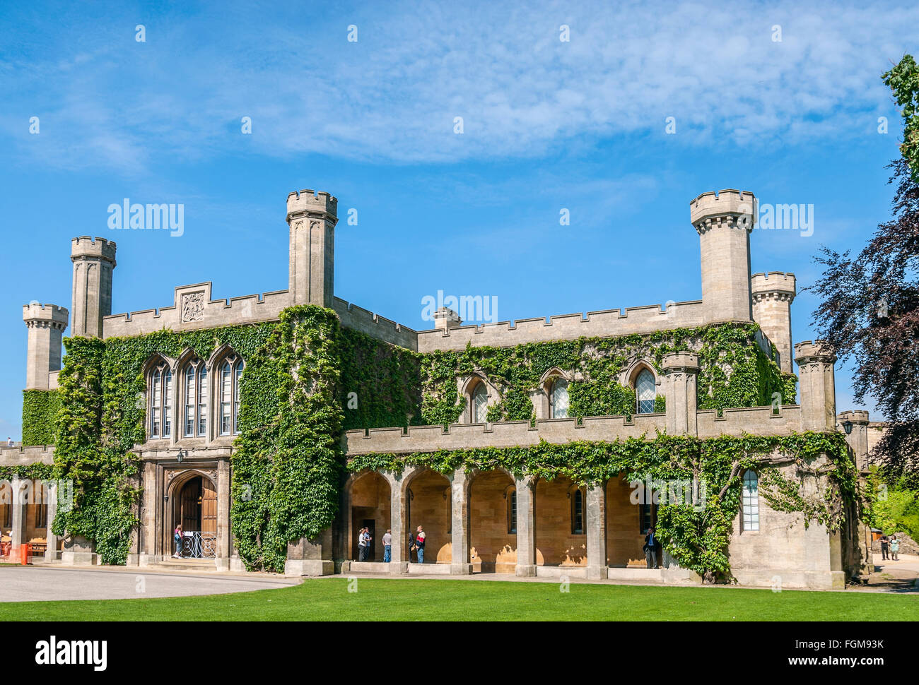 Lincoln Crown Court building inside the Lincoln Castle, Lincolnshire, England - Stock Image