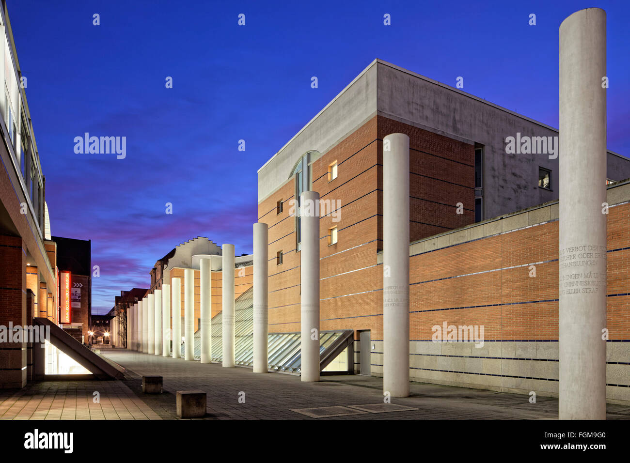 Germanisches Nationalmuseum, Way of Human Rights by sculptor Dani Karavan, historic centre, Nuremberg, Middle Franconia - Stock Image