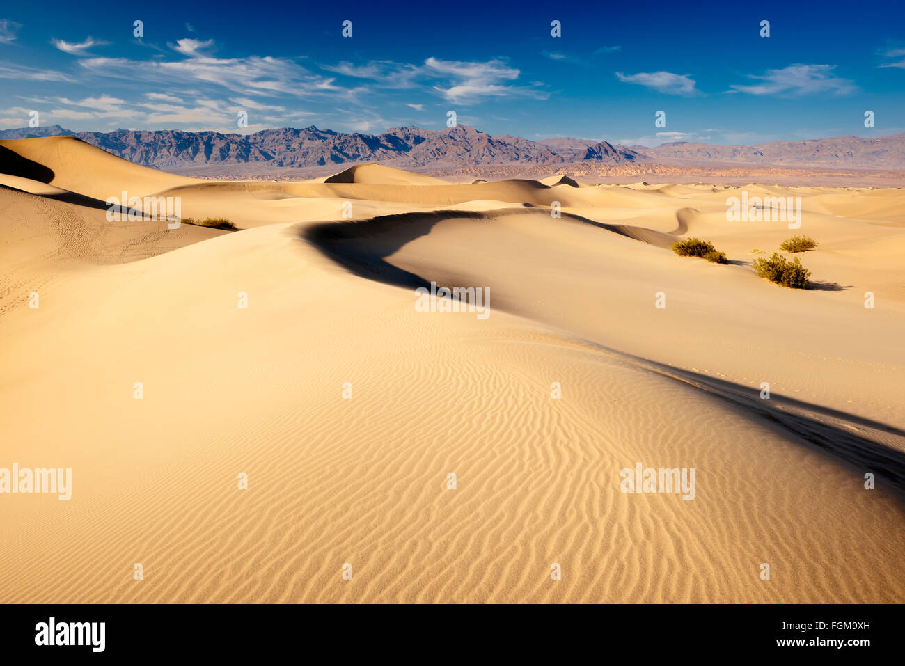 Mesquite Flat Sand Dunes in Death Valley National Park, California - Stock Image