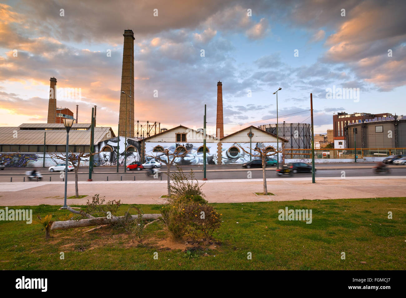 View of Technopolis, an industrial museum and a major cultural venue on the premises of former gasworks of the  - Stock Image