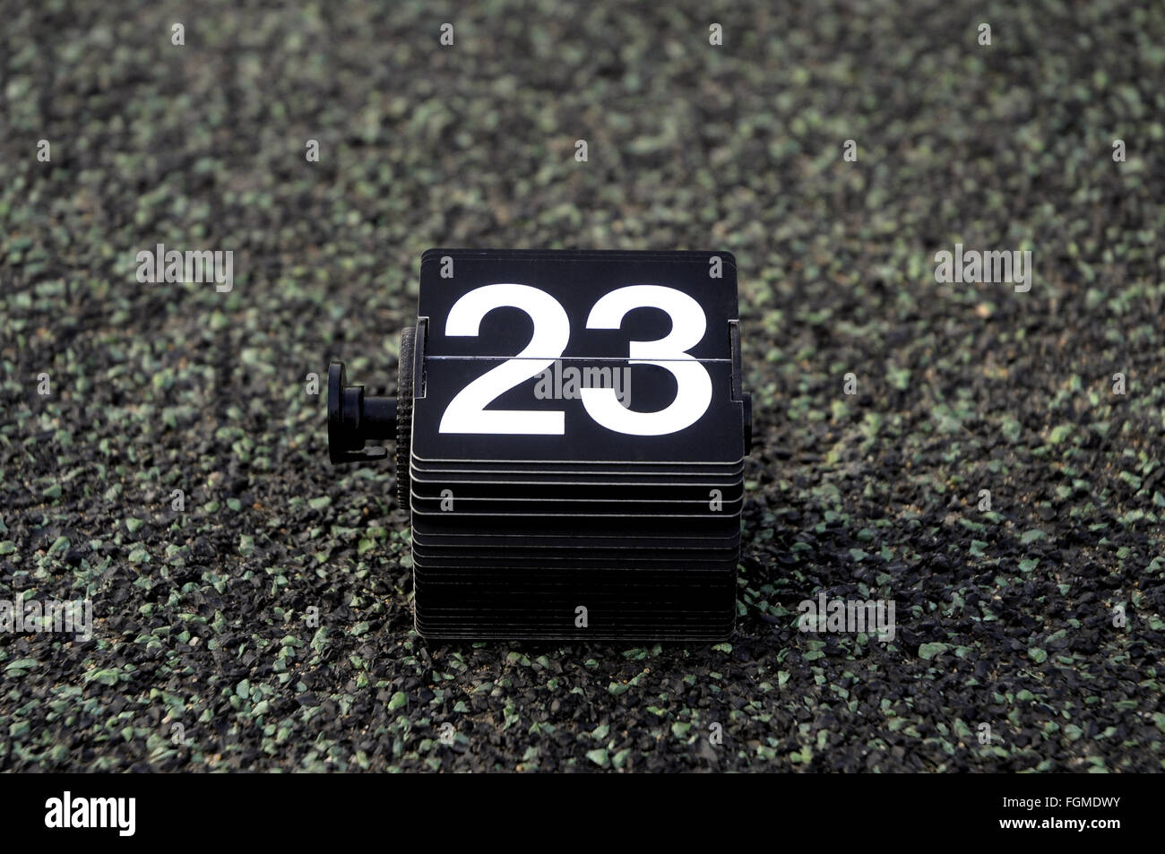 number twenty-three, 23, vintage calendar, numbers,birthday, day,twenty-three - Stock Image