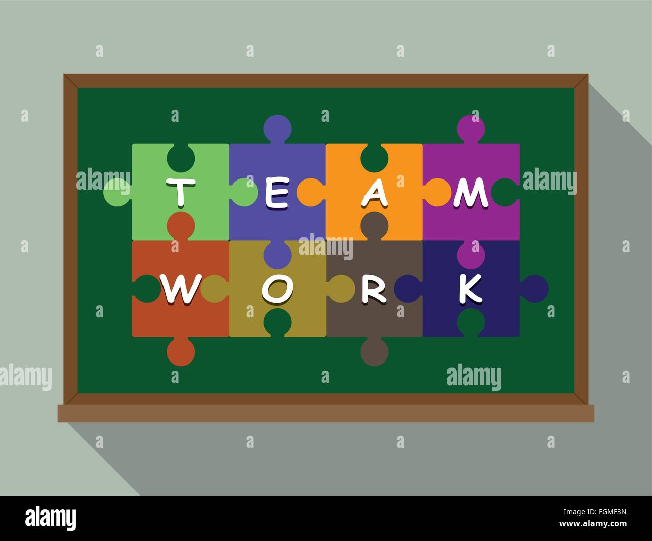 team work concept puzzle - Stock Image