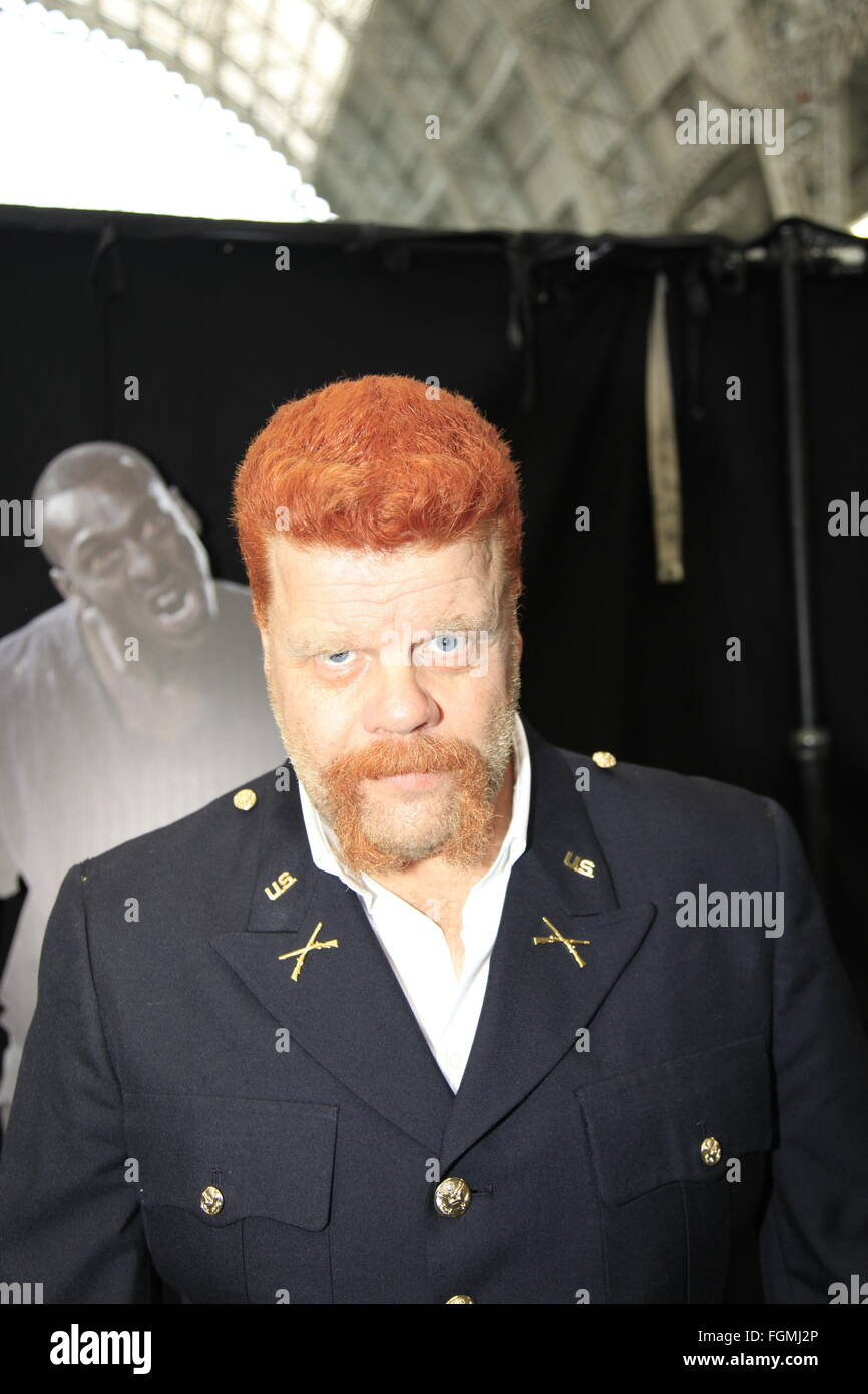 Michael Cudlitz lookalike doppelganger Sgt. Abraham Ford London, UK. 21st February, 2016. Walking Dead Convention - Stock Image