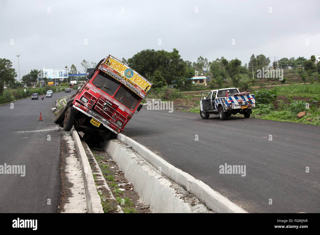 India Road Accident Stock Photos Images