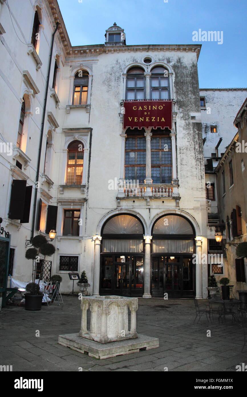 Casino' di Venezia (Venice Casino), Calle Larga Vendramin, Cannaregio, Venice, Veneto, Italy, Adriatic Sea, - Stock Image