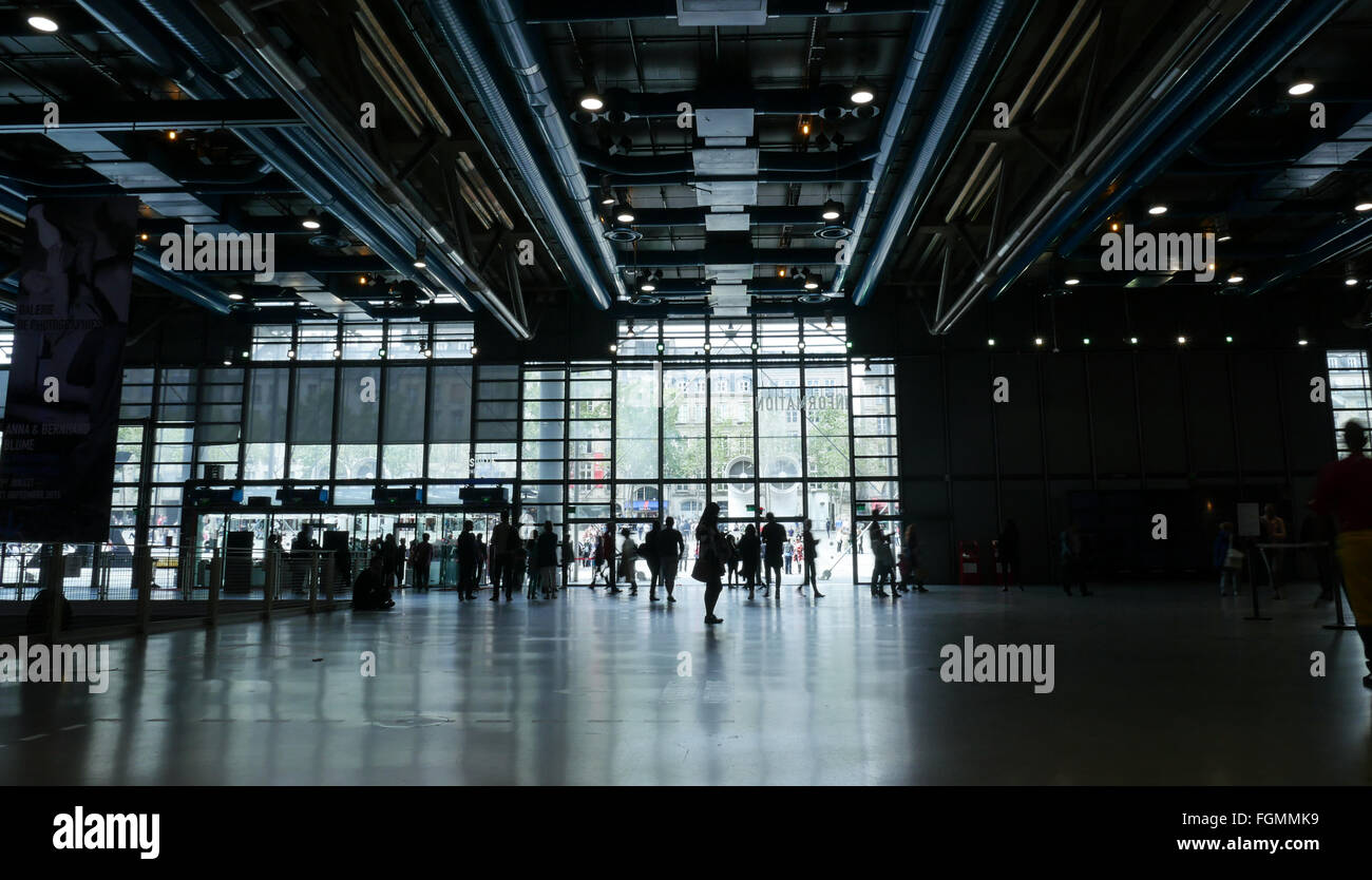 Georges Pompidou Centre in France - Stock Image