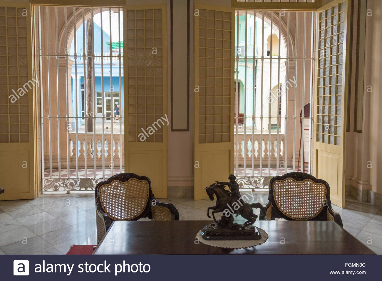 Window Guards And Furniture In The Provincial Museum In A Luxurious Old  Colonial House, Interior Details Of Architecture. The Place Is A Must See  Landmark ...