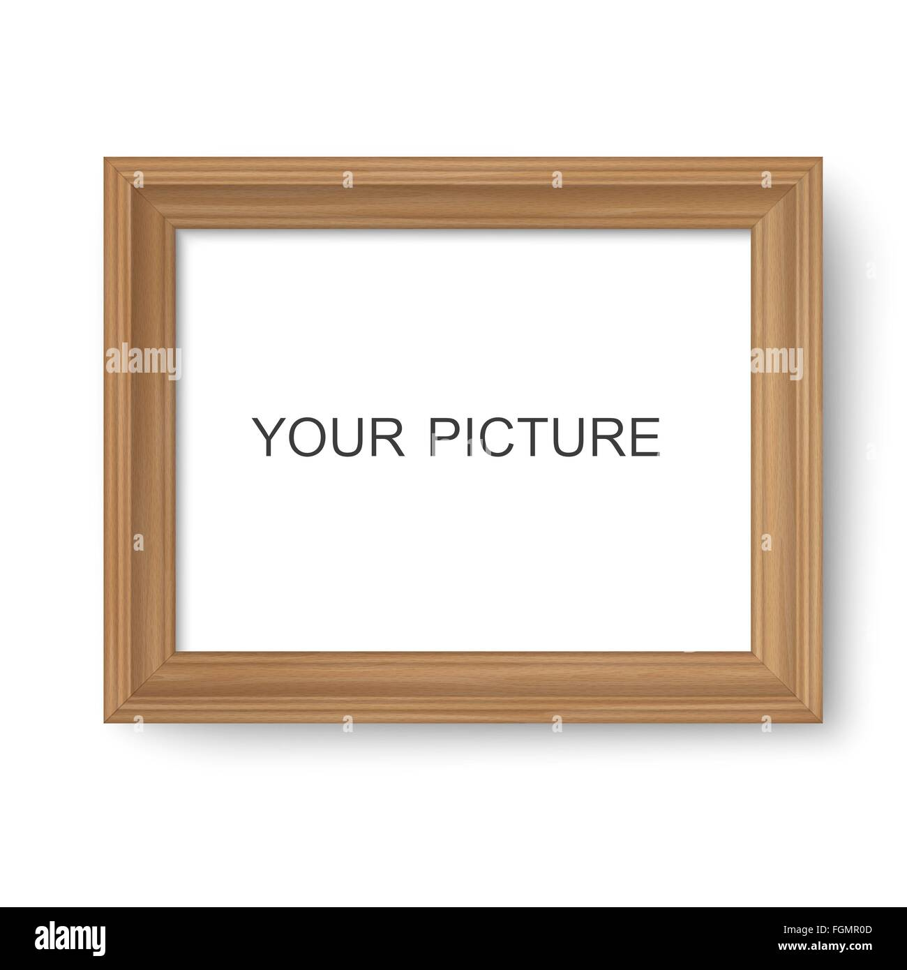 Wooden frame - Stock Image