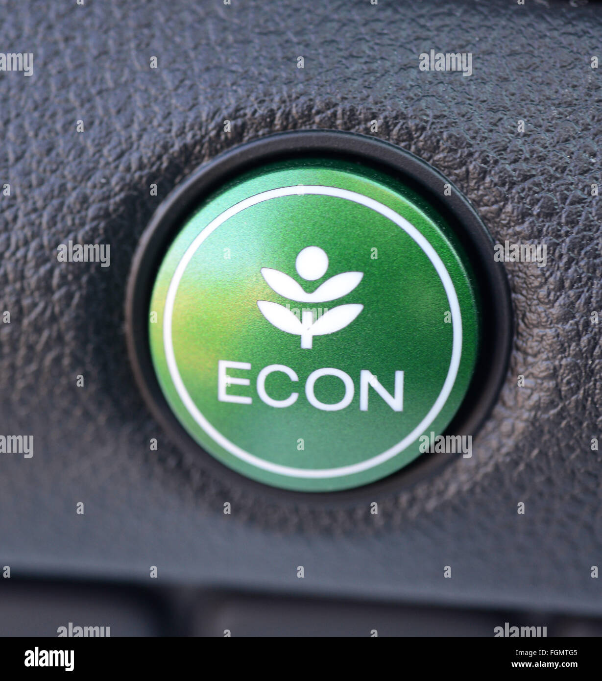 Honda Automobile Econ Button making the car more fuel efficient and economical - Stock Image
