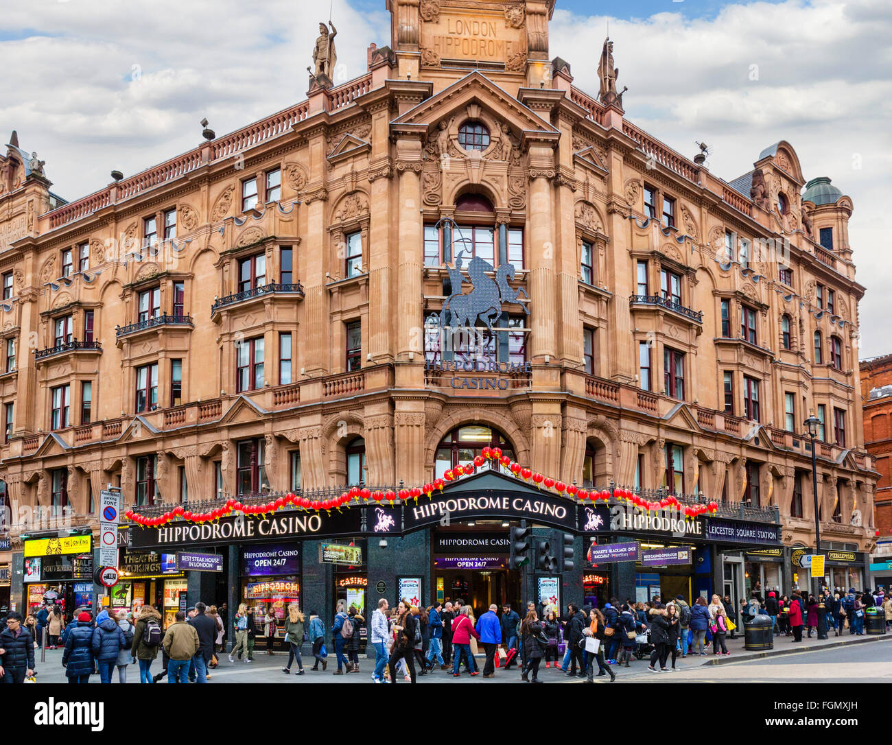The Hippodrome Casino, Charing Cross Road, Leicester Square, London, England, UK - Stock Image