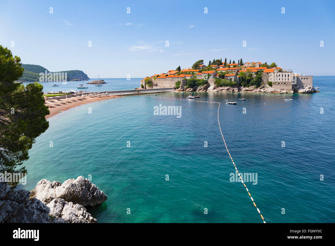 Sveti Stefan, near Budva, Montenegro. Stock Photo