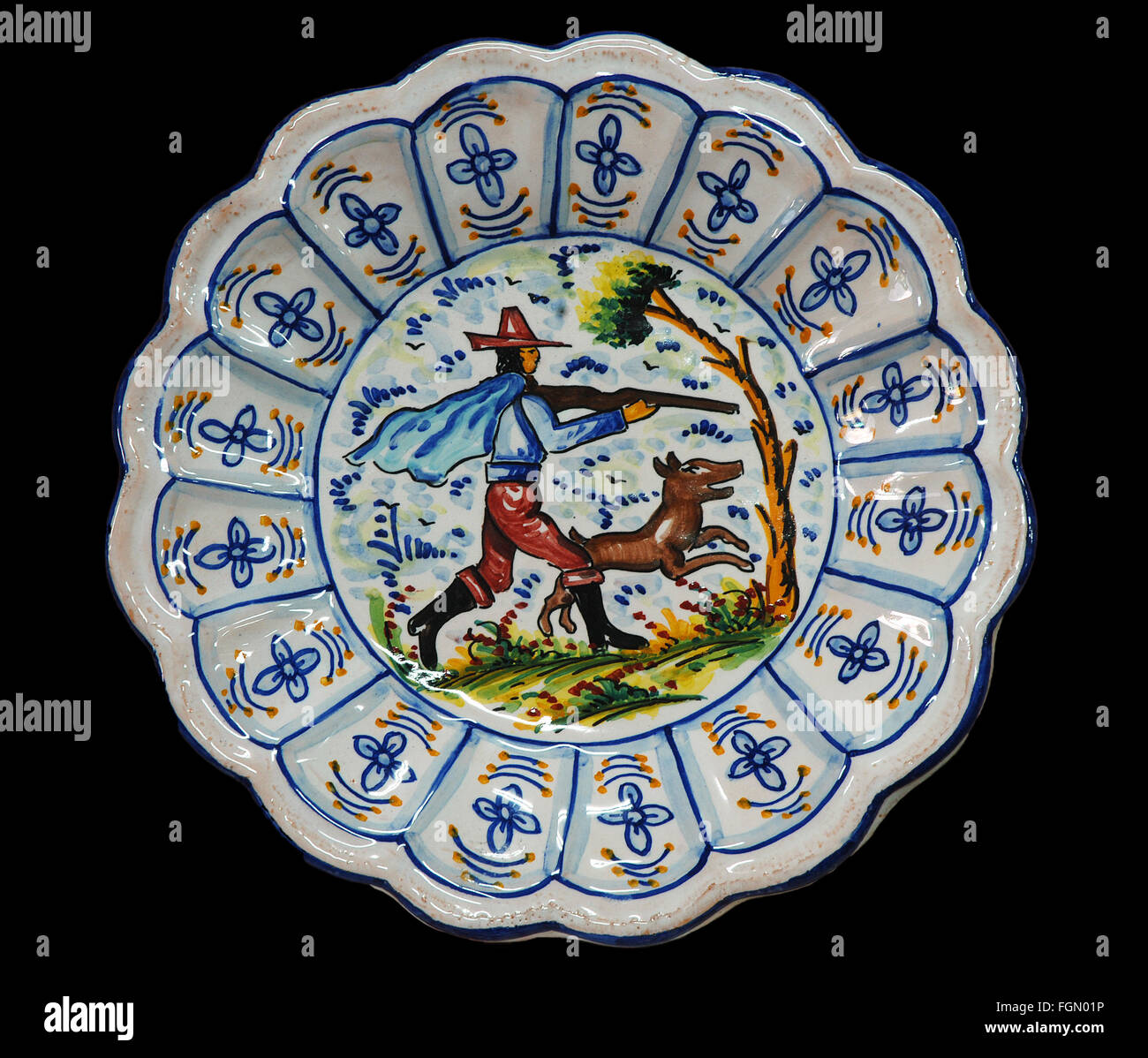 Triana ceramic plate Seville Region of Andalusia Spain Europe - Stock Image & Painted Plate Souvenirs Stock Photos u0026 Painted Plate Souvenirs Stock ...