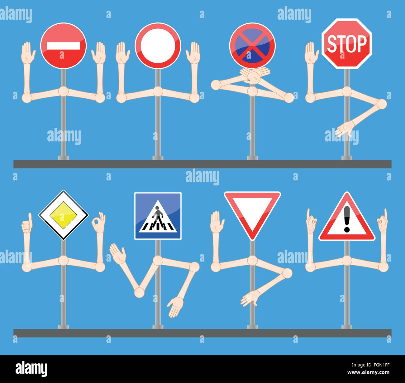 Traffic Signs With Hands